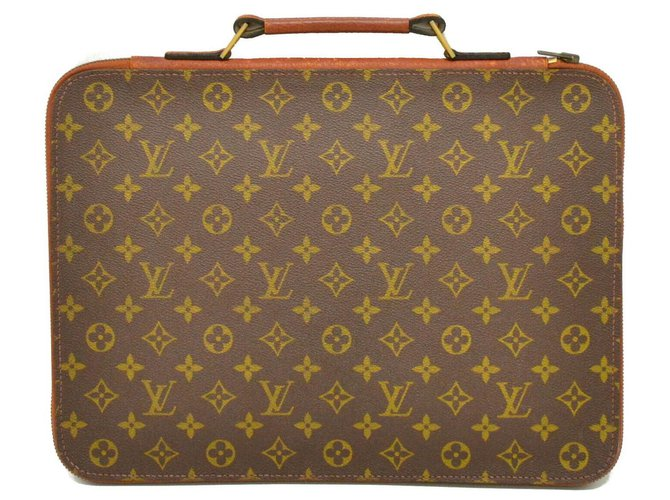 Louis Vuitton Louis Vuitton Porte document Misc Cloth Brown ref.140726