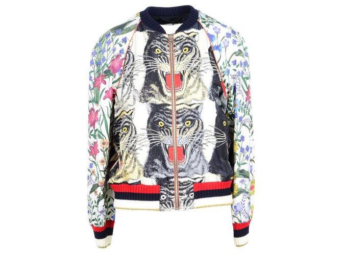 Vestes Gucci Gucci jacket new Soie Multicolore ref.141289