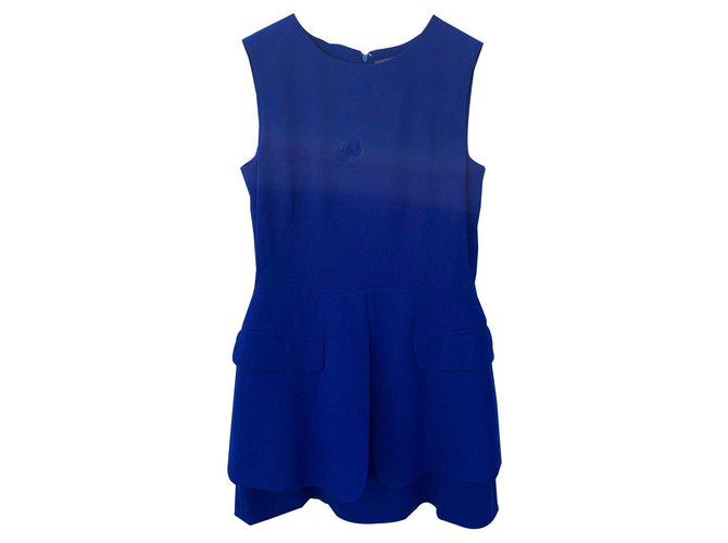 Alexander Mcqueen Dresses Dresses Wool Blue ref.141495
