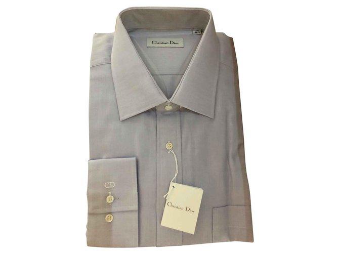 Christian Dior Camisas Camisas Algodão Lavanda ref.141565