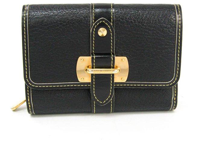 Louis Vuitton Louis Vuitton Black Suhali Le Somptueux Misc Leather,Other Black,Golden ref.141621