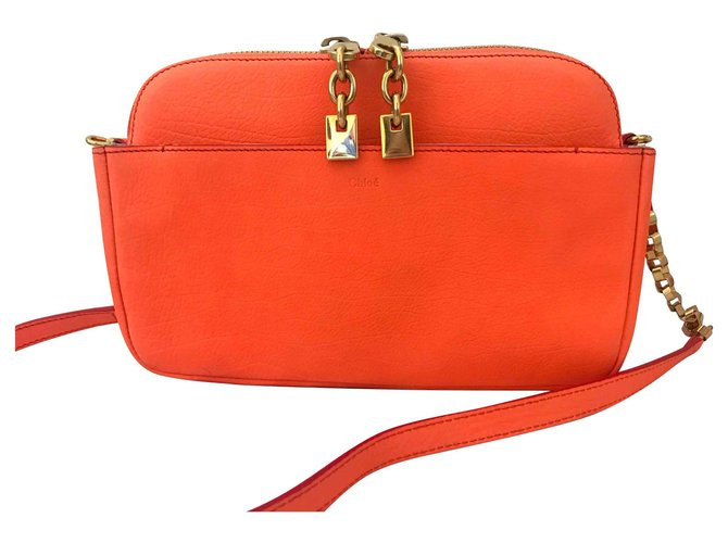 Chloé Lucy bag Handbags Leather Orange ref.141633