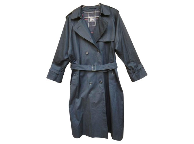 Burberry Burberry Trench Vintage Navy Blue T 42 Mint condition Trench coats Cotton,Polyester Navy blue ref.141642