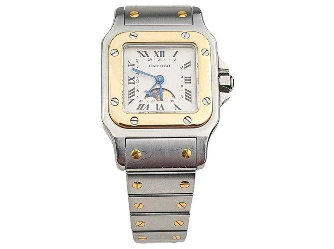 Cartier Cartier Santos Galbée Moon Phase Fine watches Steel,Yellow gold Silvery,Golden ref.141721
