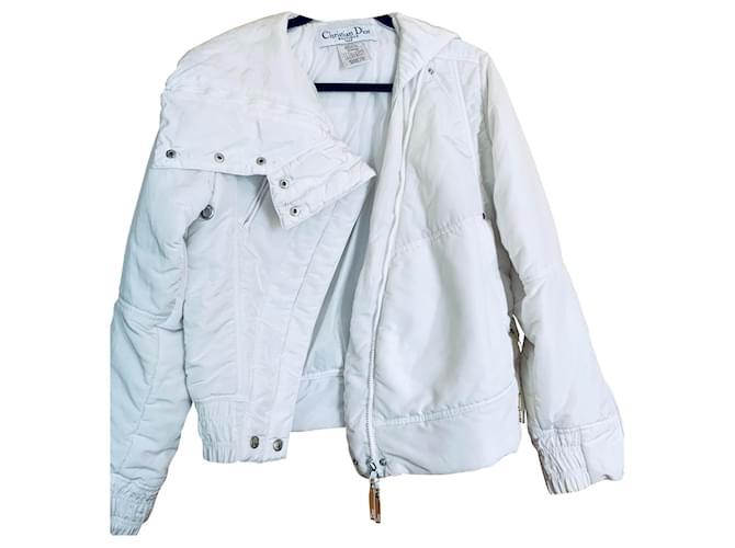 Tailleur jupe Christian Dior Jupe Acrylique Blanc ref.141886