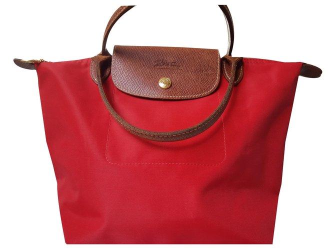 Sac pliage rouge Longchamp