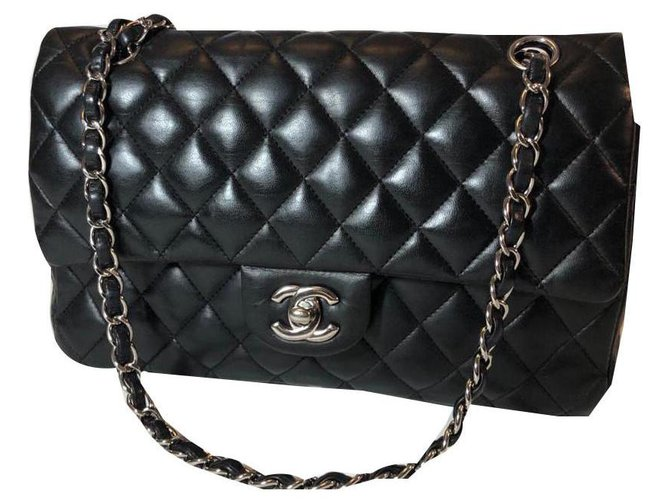 Chanel TIMELESS Handbags Leather Black ref.169843