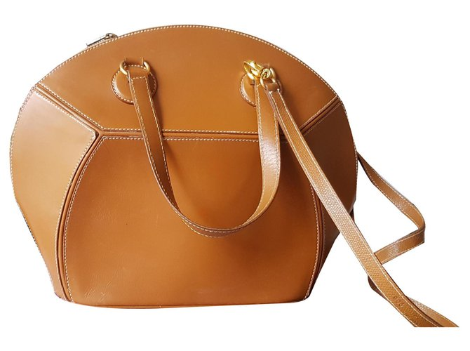 Hermès Shiki Island Handbags Leather Brown ref.142178