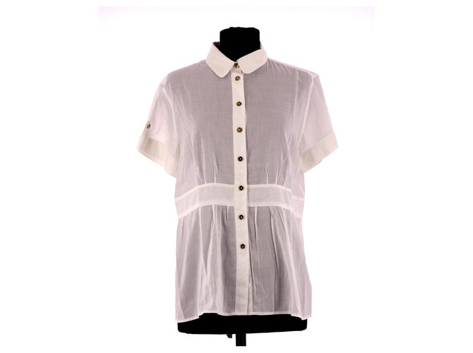 Burberry Shirt Tops Cotton White ref.142281