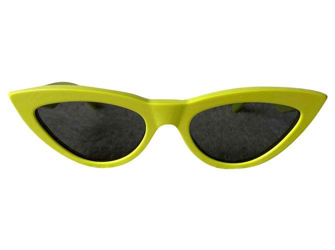 Céline Acid yellow cat-eye sunglasses Sunglasses Acetate Yellow ref.142470