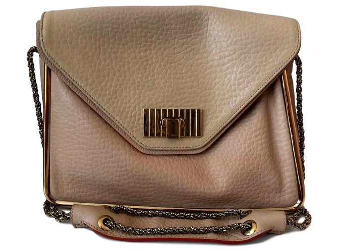 Chloé Sally Handbags Leather Beige ref.142753