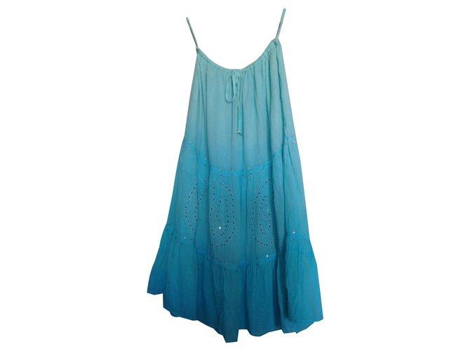 Jupes hippie chic Coton Turquoise ref.142911