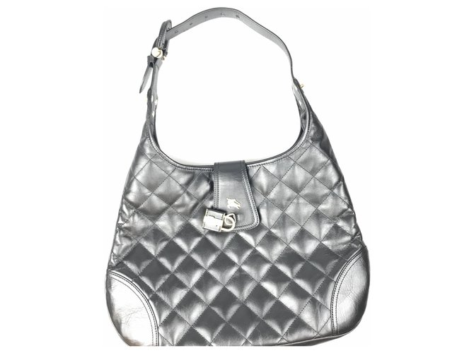 Burberry Burberry Black Quilted Brooke Hobo Handbags Leather,Other Black ref.143202