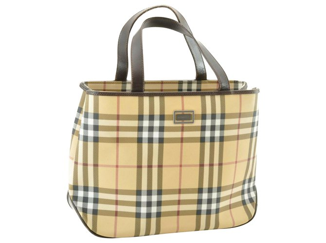 Burberry Burberry Nova Check Hand Bag Handbags Cloth Other ref.143277