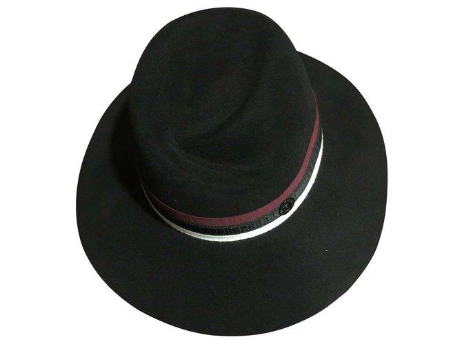 Maison Michel Virginia Hats Rabbit Black ref.143531