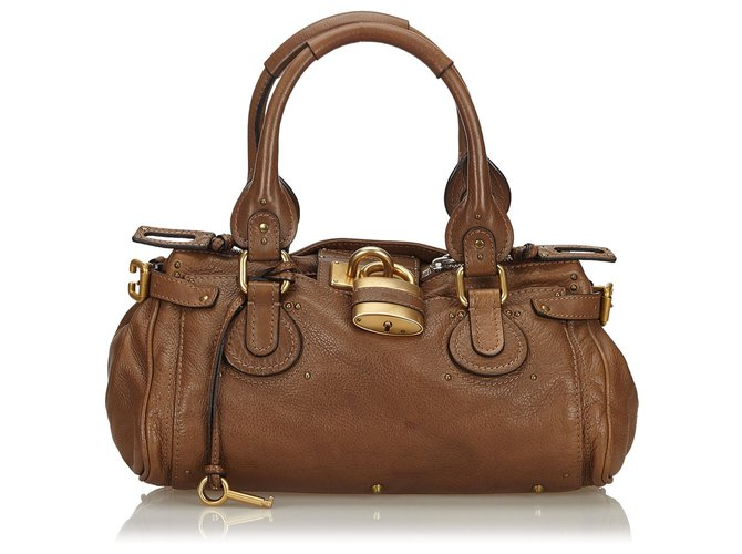 Chloé Chloe Brown Leather Paddington Handbag Handbags Leather,Other Brown,Dark brown ref.143993