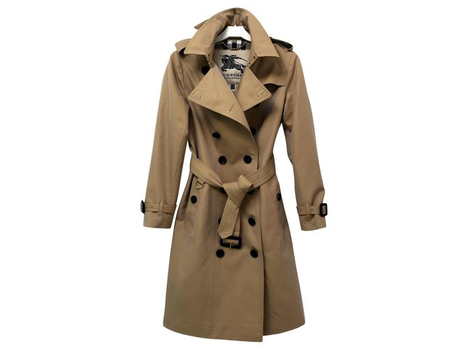 Burberry Kensington Trench coats Cotton Beige ref.144045
