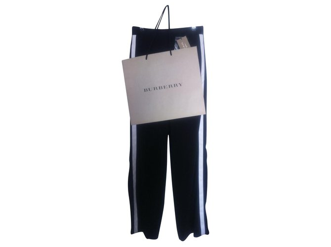 Burberry Pants, leggings Pants, leggings Cotton Black ref.144261
