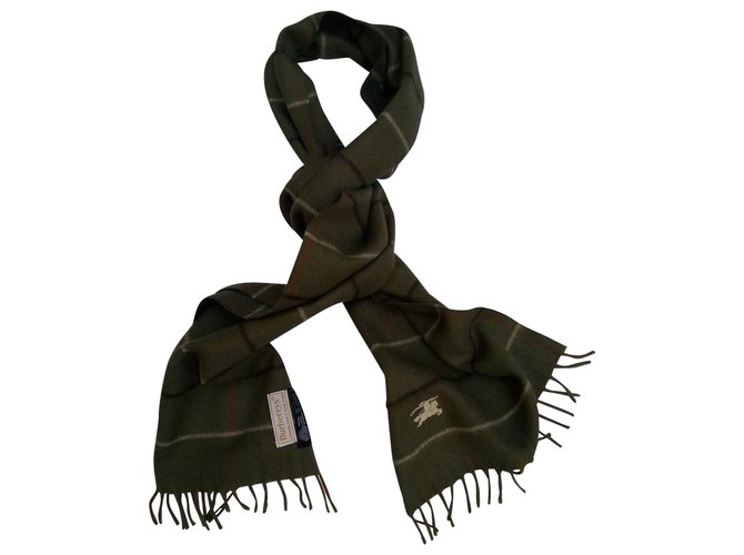Burberry Scarves Scarves Wool Khaki ref.144338