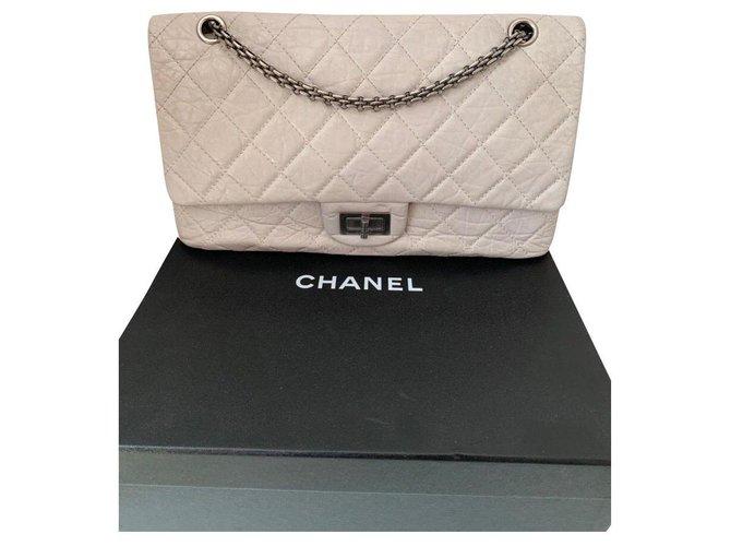 Chanel Reissue 2.55 Cuir Gris  ref.144412