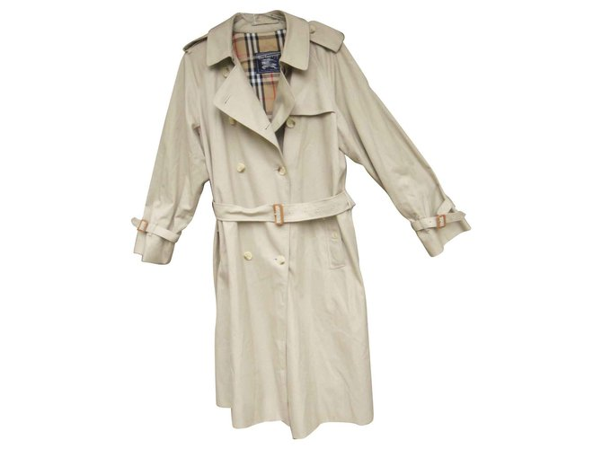 Burberry vintage Burberry trench 44 Trench coats Cotton,Polyester Beige ref.144691