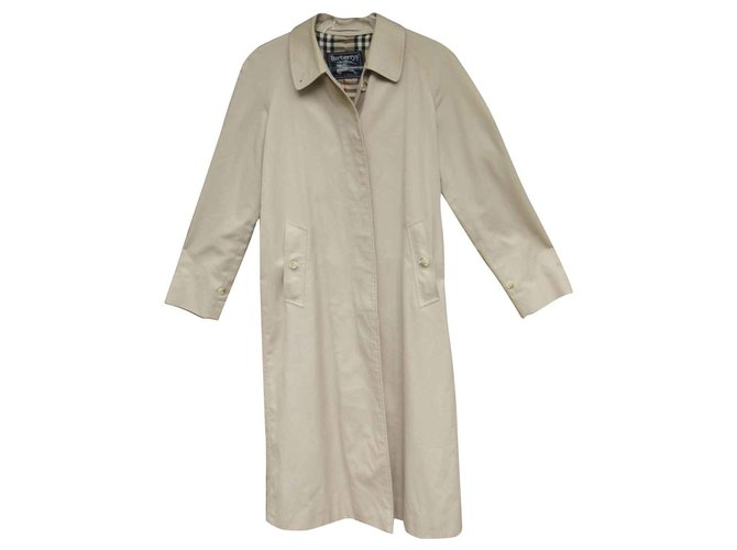 Burberry Trench coats Trench coats Cotton,Polyester Beige ref.144701