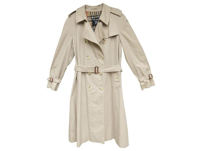 Burberry vintage Burberry trench 46 Trench coats Cotton,Polyester Beige ref.144716