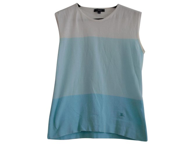 Burberry Tops Tops Cotton Turquoise ref.144754