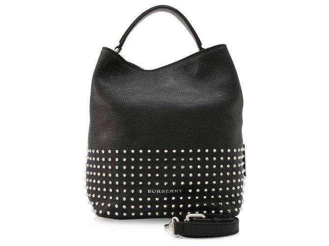 Burberry Burberry Black Susanna Studded Satchel Handbags Leather,Other Black ref.144799