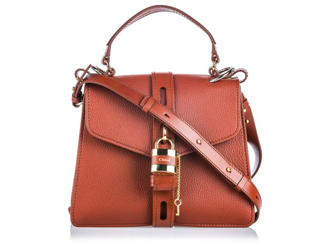 Chloé Chloe Brown Medium Leather Aby Handbags Leather,Other Brown ref.144800