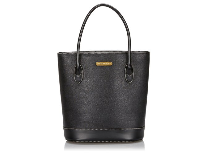 Burberry Burberry Black Leather Tote Bag Totes Leather,Other Black ref.145015
