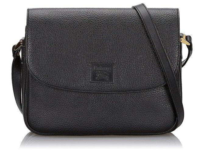 Burberry Burberry Black Leather Crossbody Bag Handbags Leather,Other Black ref.145044