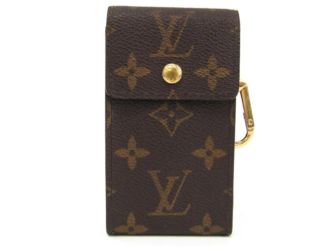 Louis Vuitton Louis Vuitton Brown Monogram Porto Crevat Key Case Misc Other,Cloth,Metal Brown ref.145156