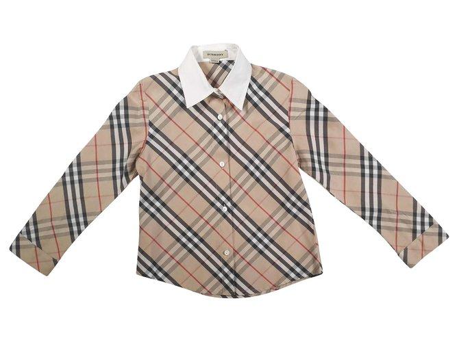 Tops fille Burberry T-shirts Coton Multicolore ref.145165