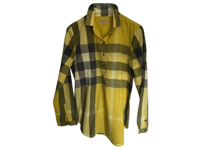 Burberry Tops Tops Cotton Yellow ref.145310
