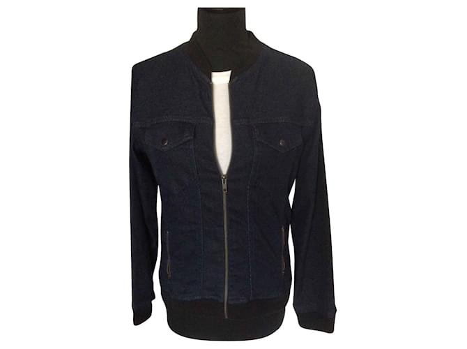 The Kooples Jackets Jackets Cotton Navy blue ref.145616