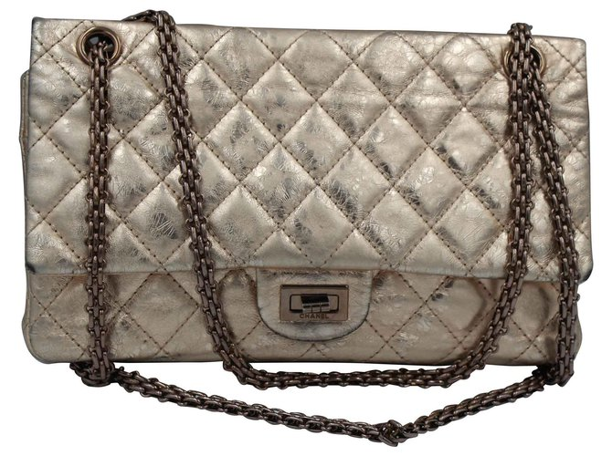 Chanel Handbags Handbags Leather Golden ref.145640