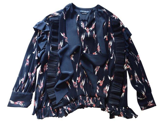 Isabel Marant Top Willis Isabel Marant tunics Polyester Black ref.145687