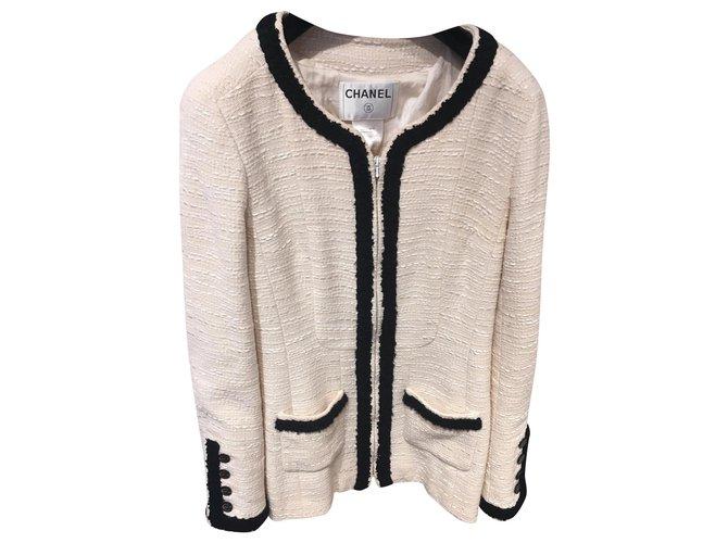 Chanel Jackets Jackets Wool Black,Beige ref.145720