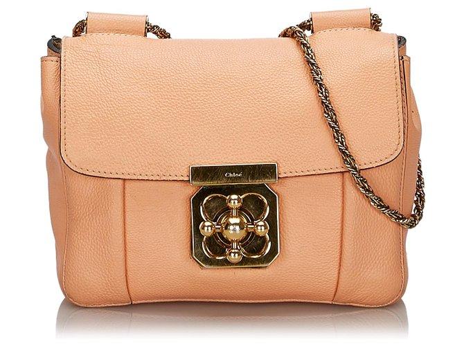 Chloé Chloe Pink Leather Elsie Shoulder Bag Handbags Leather,Other Pink ref.145811