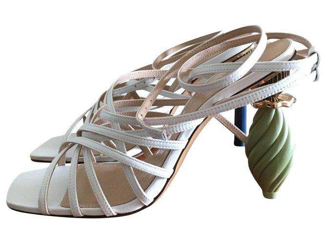 Jacquemus Pisa Sandals Leather White ref.145872
