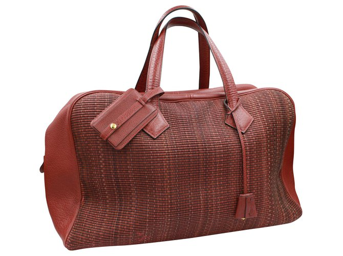 Hermès Hermès Victoria 45 Travel bag Leather Brown ref.146117