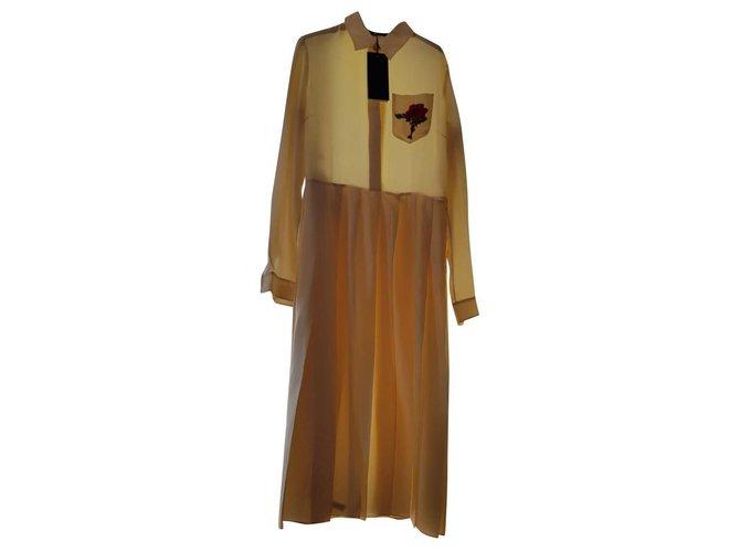 Robes Gucci Robes Soie Écru ref.146322