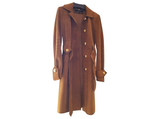 Trenchs Gucci Trenchs Suede Caramel ref.146348