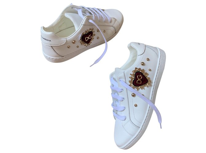 Dolce & Gabbana Sneakers Sneakers Leather White ref.146353