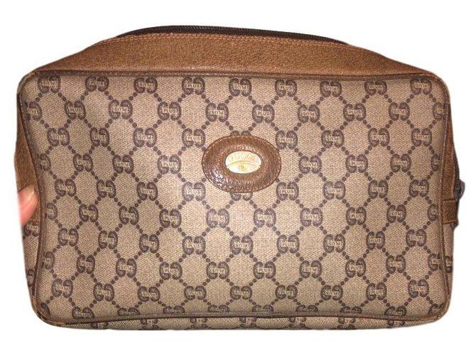Pochettes Gucci Pochettes Cuir Marron ref.146674