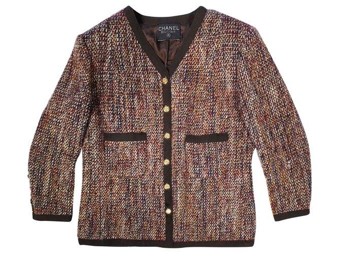 Chanel Jackets Jackets Wool Brown ref.146714