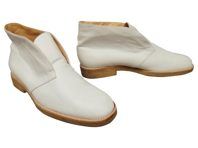 Céline Ankle Boots Ankle Boots Leather White ref.146785