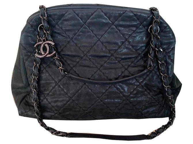 Sacs à main Chanel Mademoiselle Cuir d'agneau Noir ref.146964