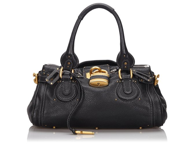 Chloé Chloe Black Leather Paddington Handbag Handbags Leather,Other Black ref.147075